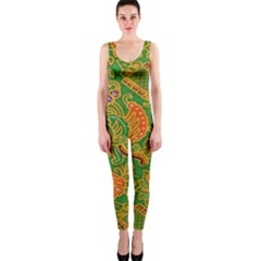 Art Batik The Traditional Fabric Onepiece Catsuit by BangZart