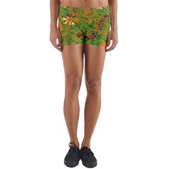 Art Batik The Traditional Fabric Yoga Shorts