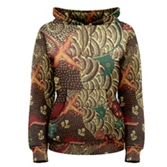 Art Traditional Flower  Batik Pattern Women s Pullover Hoodie by BangZart