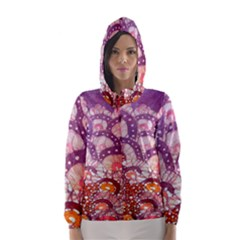 Colorful Art Traditional Batik Pattern Hooded Wind Breaker (women) by BangZart