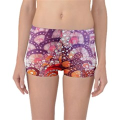 Colorful Art Traditional Batik Pattern Boyleg Bikini Bottoms