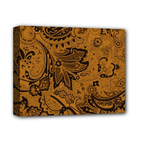 Art Traditional Batik Flower Pattern Deluxe Canvas 14  X 11  by BangZart