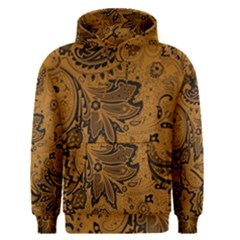Art Traditional Batik Flower Pattern Men s Pullover Hoodie by BangZart