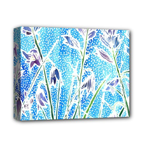 Art Batik Flowers Pattern Deluxe Canvas 14  X 11