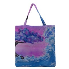 Rising To Touch You Grocery Tote Bag by Dimkad