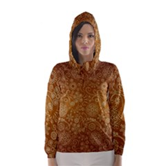 Batik Art Pattern Hooded Wind Breaker (women) by BangZart