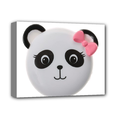 Pretty Cute Panda Deluxe Canvas 14  X 11  by BangZart