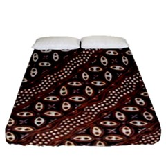 Art Traditional Batik Pattern Fitted Sheet (queen Size) by BangZart