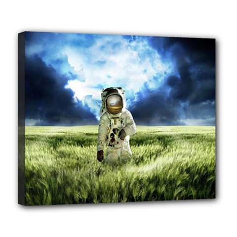 Astronaut Deluxe Canvas 24  X 20   by BangZart