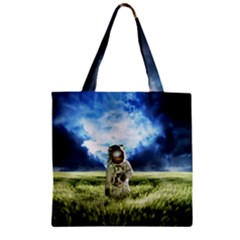 Astronaut Zipper Grocery Tote Bag by BangZart