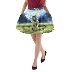 Astronaut A Line Pocket Skirt by BangZart