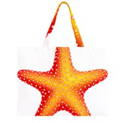 Starfish Zipper Large Tote Bag by BangZart