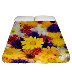 Colorful Flowers Pattern Fitted Sheet (queen Size) by BangZart