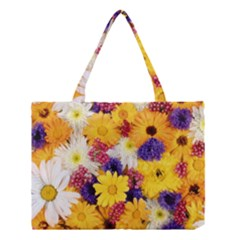 Colorful Flowers Pattern Medium Tote Bag by BangZart