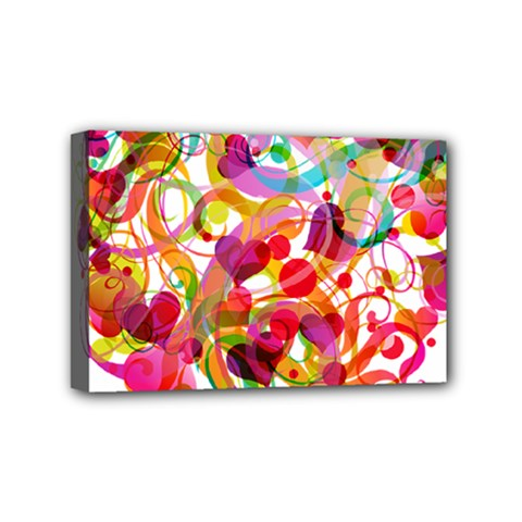 Abstract Colorful Heart Mini Canvas 6  X 4  by BangZart