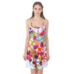 Abstract Colorful Heart Camis Nightgown
