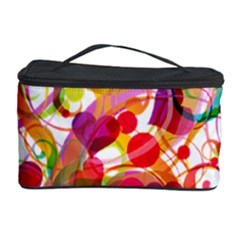 Abstract Colorful Heart Cosmetic Storage Case by BangZart