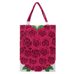 Floral Heart Classic Tote Bag by BangZart