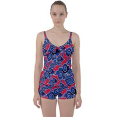 Batik Background Vector Tie Front Two Piece Tankini