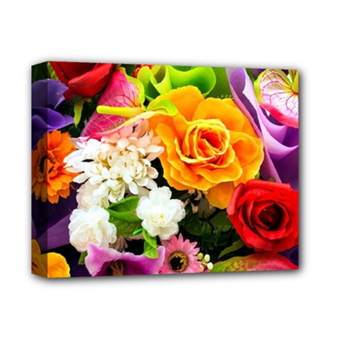 Colorful Flowers Deluxe Canvas 14  X 11  by BangZart