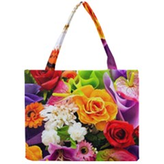 Colorful Flowers Mini Tote Bag by BangZart