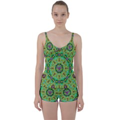 Golden Star Mandala In Fantasy Cartoon Style Tie Front Two Piece Tankini