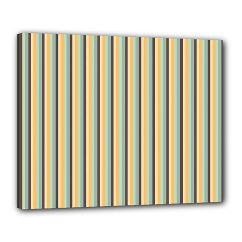 Elegant Stripes Canvas 20  X 16  by Colorfulart23