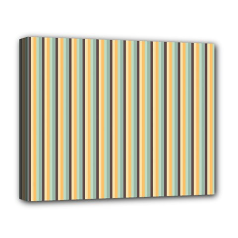 Elegant Stripes Deluxe Canvas 20  X 16   by Colorfulart23