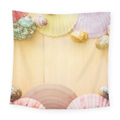 Sea Shell Pattern Square Tapestry (large) by paulaoliveiradesign