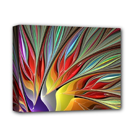 Fractal Bird Of Paradise Deluxe Canvas 14  X 11  by WolfepawFractals
