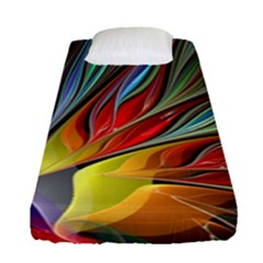 Fractal Bird Of Paradise Fitted Sheet (single Size)