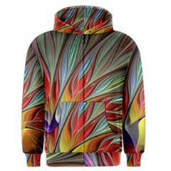Fractal Bird Of Paradise Men s Zipper Hoodie