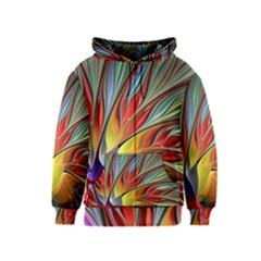 Fractal Bird Of Paradise Kids  Zipper Hoodie