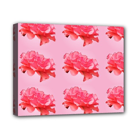 Pink Floral Pattern Canvas 10  X 8