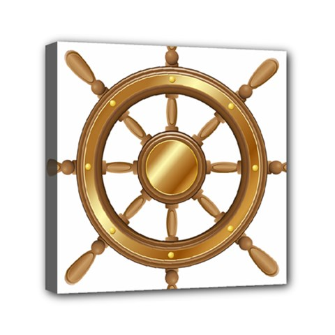 Boat Wheel Transparent Clip Art Mini Canvas 6  X 6  by BangZart