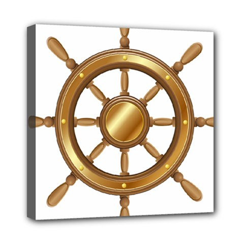 Boat Wheel Transparent Clip Art Mini Canvas 8  X 8  by BangZart