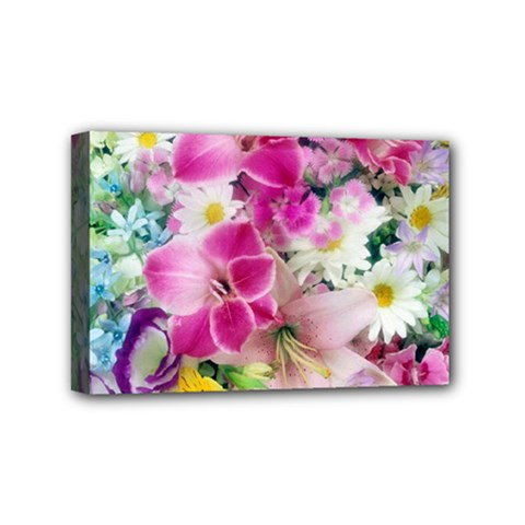 Colorful Flowers Patterns Mini Canvas 6  X 4  by BangZart