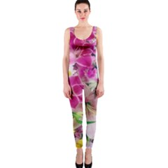 Colorful Flowers Patterns Onepiece Catsuit by BangZart