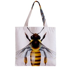 Bee Zipper Grocery Tote Bag
