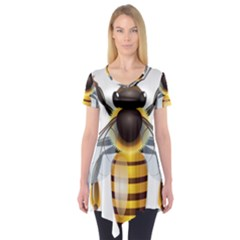 Bee Short Sleeve Tunic  by BangZart
