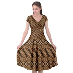 Batik The Traditional Fabric Cap Sleeve Wrap Front Dress by BangZart