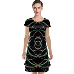 Abstract Spider Web Cap Sleeve Nightdress by BangZart