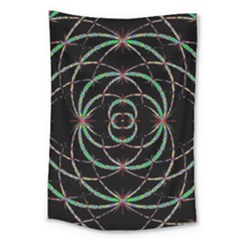 Abstract Spider Web Large Tapestry by BangZart