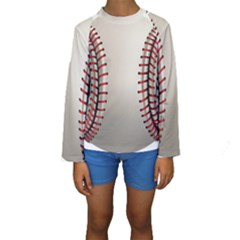 Baseball Kids  Long Sleeve Swimwear by BangZart