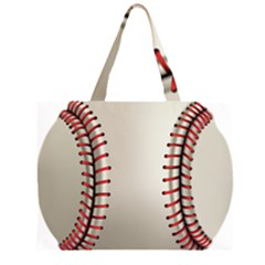 Baseball Zipper Large Tote Bag by BangZart