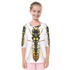 Wasp Kids  Quarter Sleeve Raglan Tee