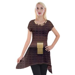 Brown Bag Short Sleeve Side Drop Tunic