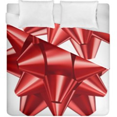 Red Bow Duvet Cover Double Side (king Size) by BangZart