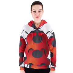 Ladybug Insects Women s Zipper Hoodie by BangZart