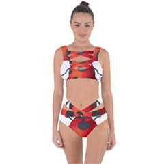Ladybug Insects Bandaged Up Bikini Set